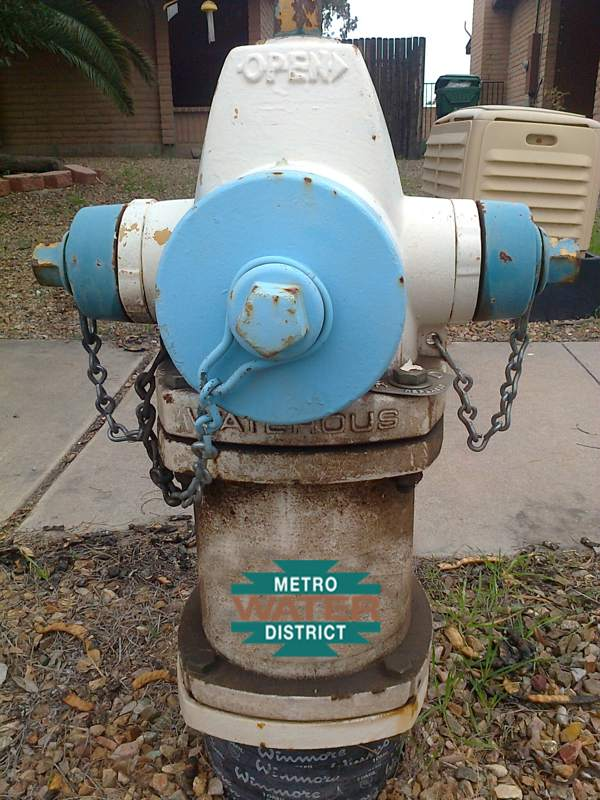 Metro Water Tucson - Dirty Fire Hydrant