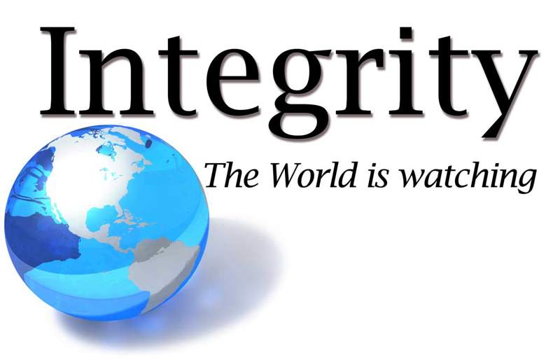 Integrity the World is Watching! , Blue Globe , metrowatertucson